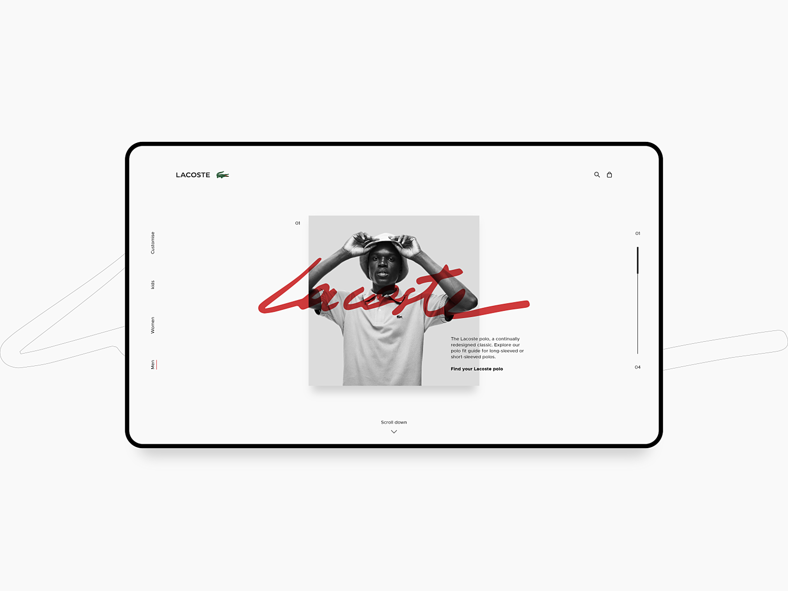 competitive price ff25b ca7bb Lacoste - Homepage by Ezra Hames on Dribbble