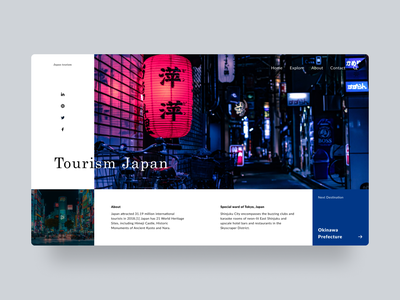Tourism - Hero Section #3 white website design website web design agency web design webdesign webapp web clean ui modern landing page design landing page interface flat figma app design clean application app
