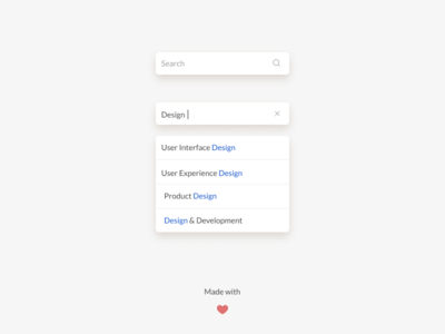 Search Interface Design