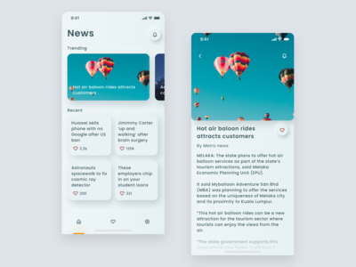 News App - Skeuomorphism