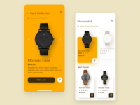 Watch App UI ⌚ design interface accessories luxury fashion store product mobile minimalist shop shopping ui timer ecommerce clock watch clean app cart