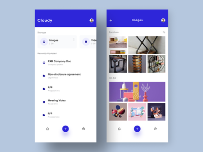 Cloud Storage Mobile App UI android ios ux interface clean figma vector modern application dropbox box flat minimal designer design ui app mobile storage cloud
