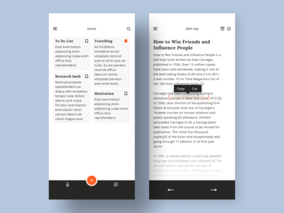 Note Taking App UI