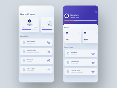 File Manager App files app design android ux modern clean file upload file manager storage cloud file sharing neuomorphism ios mobile interface ui design app manager file