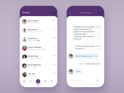 Chat App ios application chatting communication messaging messages mobile design app design chat bot chatbot chat app ui mobile message app message messanger app chat