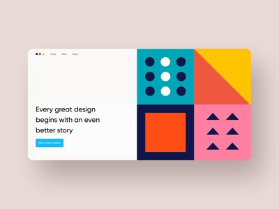 Hero section exploration #1 flat ux web clean interface geometric geometry typography modern ui web ui web ui design website design web design webdesign landing page landingpage landing