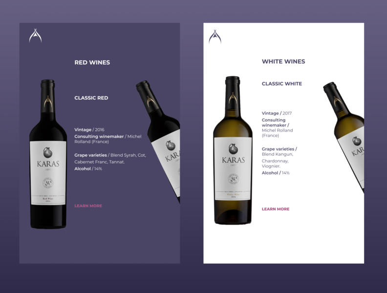 Wine website redesign (responsive mobile version)