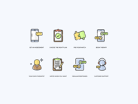 Online therapy icons
