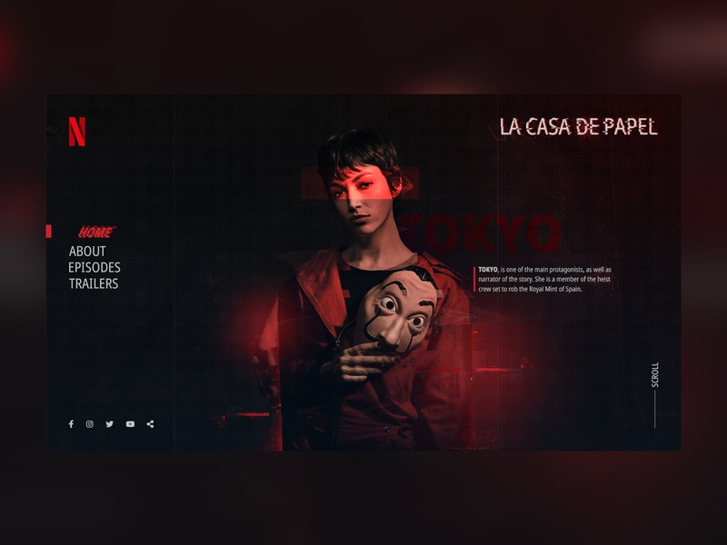 La Casa De Papel Web Concept Design art direction concept design graphic web ui ux netflix money hesit la casa de papel
