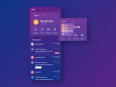 Crypto wallet app concept concept app mobile ui  ux ui mobile ui app design crypto wallet cryptocurrency crypto