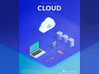 Cloud isometric illustration