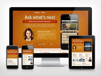 Responsive layout responsive web design mobile mobile design ipad iphone yellow texture website