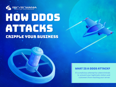Space attack - infographic spacecraft ddos attack space fighter space station space infographic isometric blue illustration