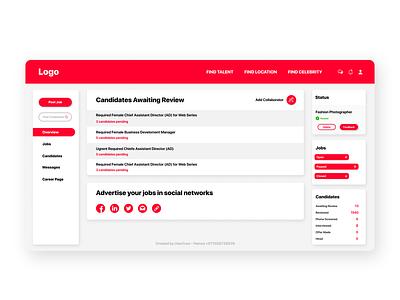 Jobs Portal Employer Dashboard web developer user interface uae dubai white red ui design database laravel php back-end front-end software development software design web design dashboard portal ux ui