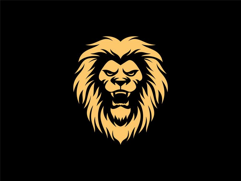 lion animal illustration branding vector brave strong lion lions lion mascot lion king lion head lion logo