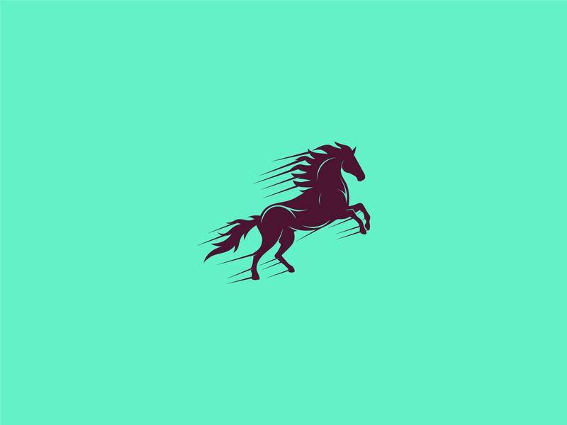 horse logo design animal branding raning race racer horse horses horse racing horse logo