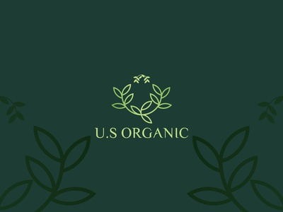 U.S organic Logo concept