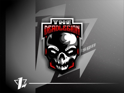 TheDeadLegion brand illustration design simple esports mascot logo sport flat design designer branding