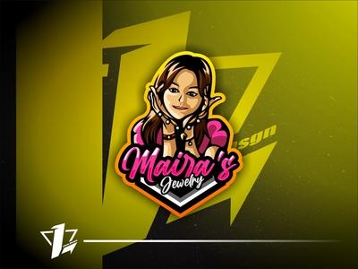 Maira`s Jewelry icon esport logo mascot illustration logo design vector esports flat design designer branding