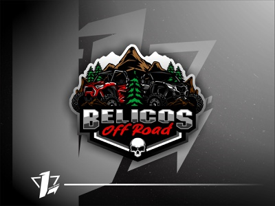Belicos OffRoad icon typography logo design ux brand esports vector logo simple design