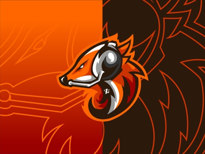 Wolf Gaming brand mascot illustration esports design simple logo sport flat design branding designer
