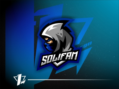 SoliFam brand simple esports design mascot illustration logo sport flat design designer branding