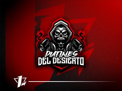 Putines Del Desierto logo design brand simple mascot illustration designer esports design logo sport flat design branding