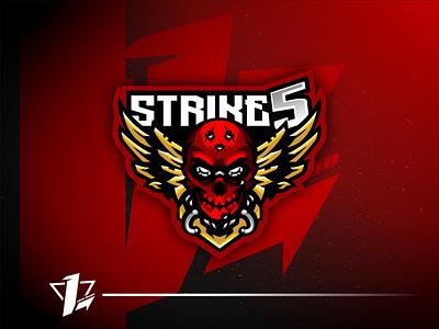 Strike5 brand simple mascot illustration esports design logo sport flat design designer branding