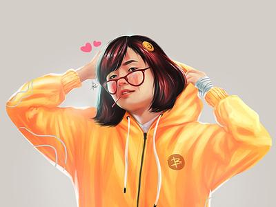 CYNANTIA DIGIPAINT portrait illustration illustration digital illustration digital art digital painting game portrait painting portrait