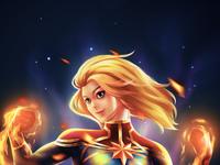 Comission 2 Captain Marvel fanart