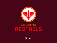 071420 monospace illustration typography nfl washington sports football nike redtails redskins branding logo