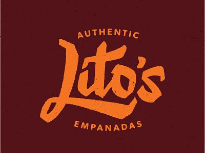 Lito's Empanadas lettering script empanadas litos