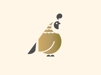 Quail dad geometry illustration quail