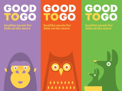 Good To Go packaging branding illustration kids kangaroo owl gorilla