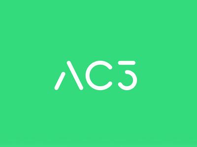 AC3 Health care cancer branding services technology health logo