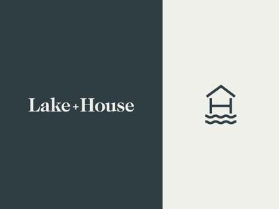 Lake+House Branding h l icon branding apartments house lake