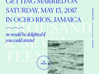 Save The Date wedding savethedate jamaica typography