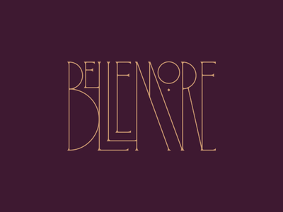 Bellemore Type branding fancy wrought iron custom logotype logo