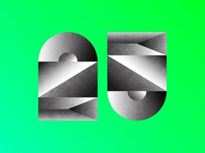XXV dimension typography numbers gradient type xxv 25