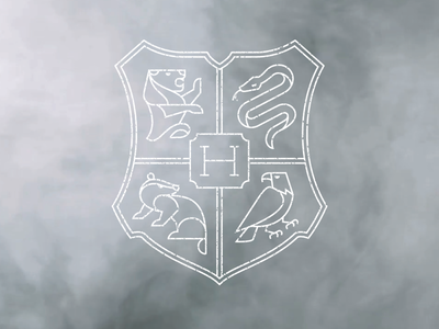 Hogwarts Crest crest shield magic monoline logo illustration hogwarts harrypotter