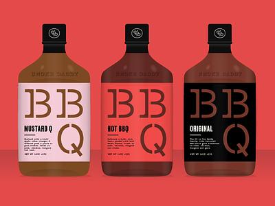 Saucin' q mustard hot original food bottle sauce packaging bbq
