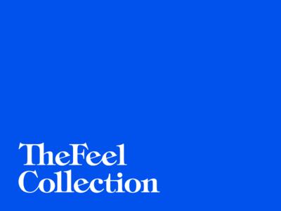 FeelCo. cannabis marijuana ligatures tincture blue bespoke logotype feel