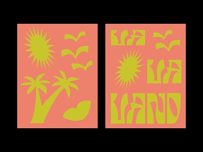 111819 birds funky goodtype losangeles sun palm tree typography illustration