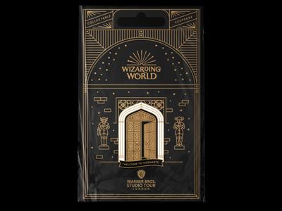 012820 hedwig dumbledore magic enamel pin illustration harry potter wizard