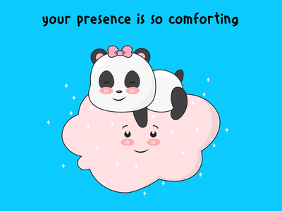 Sleepy Panda wholesome illustration art cute comic doodle illustrations illustrator