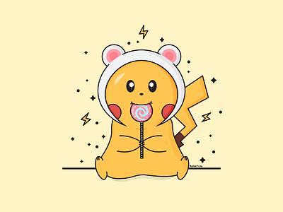 Pikachu pikachu cute art vector illustration vector pokemon illustration