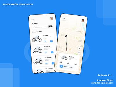 Bike Rental Mobile Application concept android ux uiux ui design ui adobe xd adobexd