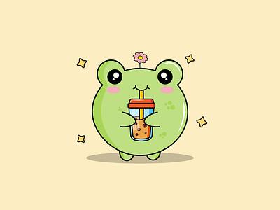 Froggie illustrator doodle vector illustration