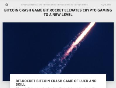 Bitcoin News Today Article - Bit.Rocket Bitcoin Crash Feature