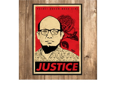 Icon of Justice in Indonesia Poster poster novelbaswedan posterart indonesianlaw law justice poster design poster art vectorart illustration
